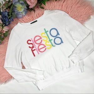 NEW Wildfox Siesta Fiesta Pullover Sweatshirt